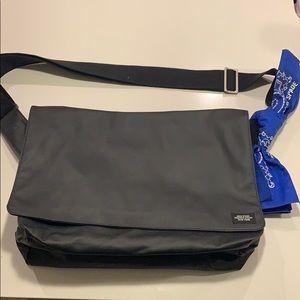 Jack Spade black weatherproof messenger bag